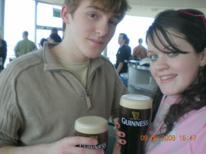 Pint of Guinness in the Guinness factory Dublin!
